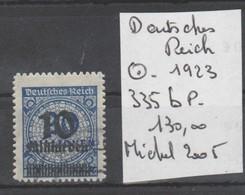TIMBRES NEUF  O  DE L ALLEMAGNE 1923  Nr  335  P B COTE  130 € - Allemagne