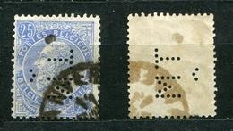 Belgien Nr.55        O  Used       (897) Perfin: TM - Lochung