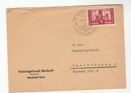 1956 SAAR COVER  Blumengarten Grubenmuseum , Bexbach Mit  Kinderverkehrsschule  Event Pmk Stamps Mining - 1947-56 Protectorate
