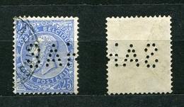 Belgien Nr.55        O  Used       (899) Perfin: SAN - Lochung