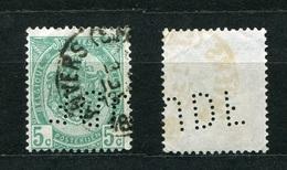 Belgien Nr.80        O  Used       (902) Perfin: JDF - Lochung