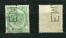 Belgien Nr.80        O  Used       (903) Perfin: E.M. - Lochung