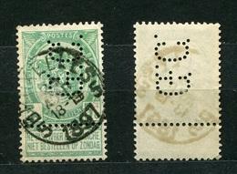 Belgien Nr.80        O  Used       (905) Perfin: G.C. - Lochung