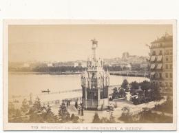 Photo CDV - GENEVE, Monument Du Duc De Brunswick - Photo Garcin - Photos
