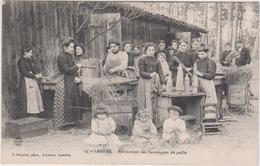 Landes : Fabrication  Des  Enveloppes De  Paille - France