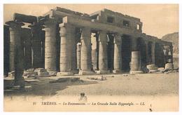 CPA: THEBES (Louxor) - Le Ramesseum ( Temple Ramsès II ) La Grande Salle Hypostyle - Idfu