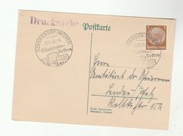 1936 SCHRONDORF Illus TUBULAR STEEL BEDS Pmk COVER Card Germany Stamps - Germany