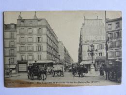 CPA 75 PARIS - Rue Legendre Et Place De L'église Des Batignolles - Paris (17)