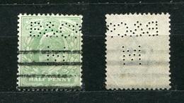 Großbritannien Nr.103        O  Used       (1102) Perfin: B & CoM - Perfins