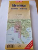 ASIE : BIRMANIE  - Echelle De 1/1 500 000  - Edition 2016 - Geographical Maps