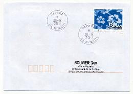 "POLYNESIE FRANCAISE - Enveloppe Affr. Pareo Oblitérée ""PAPARA Ile De Tahiti"" 30-12-2011 - Lettres & Documents"