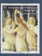 Sandro Botticelli, Zéphyr Et La Nymphe Chloris Transformée En Flore, Déesse Des Fleurs, N°4518 Oblitéré - France