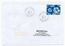 "POLYNESIE FRANCAISE - Enveloppe Affr. Pareo Oblitérée ""FAAA-CENTRE Ile-de-Tahiti"" 30-12-2011 - Lettres & Documents"