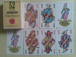 FOUR ROSES (alcool) Jeu De 52 Cartes + 2 Jokers Dans Sa Boite Carton - Cartes à Jouer Classiques