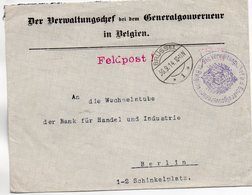 BELGIEN 30/9/14 - Besetzungen 1914-18