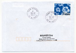 "POLYNESIE FRANCAISE - Enveloppe Affr. Pareo Oblitérée ""FAAA-AEROPORT Ile-de-Tahiti"" 30-12-2011 - Lettres & Documents"