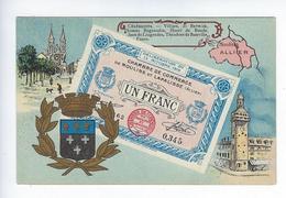CPA 03  Chambre De Commerce De Moulins Et Lapalisse Bon Billet Un Franc - Moulins