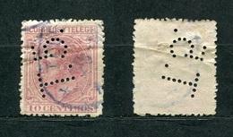 Spanien Nr.178        O  Used       (1058) Perfin: T.5 - Spain