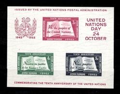 Nations-Unies/ONU New-York Bloc-feuillet YT N° 1 Neuf ** MNH. TB. A Saisir! - New-York - Siège De L'ONU