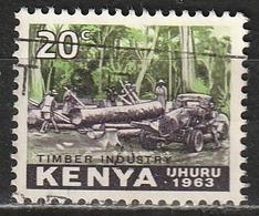 Kenia 1963 Loading Of Logs - Forestale   Industria - Kenia (1963-...)