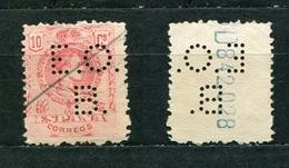 Spanien Nr.233        O  Used       (1063) Perfin: E.O.B - Spain