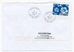 "POLYNESIE FRANCAISE - Enveloppe Affr. Pareo Oblitérée ""TARAVAO Ile-de-Tahiti"" 30-12-2011 - Lettres & Documents"