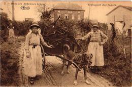 Carte Plié (geplooide Kaart) 3. Dans Les Ardennes Marco MARCOVICI Transpsort Canine Des Fagots, Chien Attelage, - Dogs
