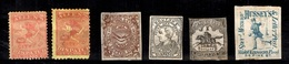 Etats-Unis Six Timbres De Postes Locales Anciens. Authentiques Et Rares! A Saisir! - 1847-99 General Issues