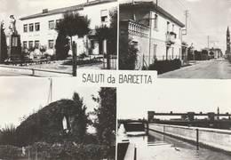 CPSM:ITALIE SALUTI DA BARICETTA QUATRE VUES..ÉCRITE - Italia