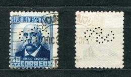 Spanien Nr.624 II A        O  Used       (1068) Perfin: Symbol - Spain