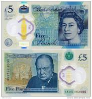 GREAT BRITAIN       5 Pounds       P-394       2015 (2016)       UNC - 1952-… : Elizabeth II