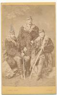 Photo CDV - Trois Militaires, Vètements D'Hiver - J. Ganz, Zürich - Ancianas (antes De 1900)