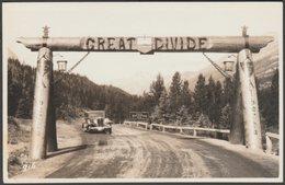 The Great Divide, Alberta And British Columbia, C.1930s - Byron Harmon RPPC - British Columbia