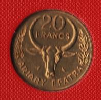 MADAGASCAR 20 FRANCS 1970 FAO KM# 12 - Madagaskar