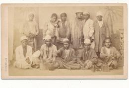 Photo CDV - EGYPTE, Groupe De Petits Cireurs Des Rues - Hippolyte Arnoux, Alexandrie - Photos