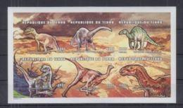 Tchad Prehistory Prehistoire Dinosaurs Dinosaures  Imperf  MNH - Prehistory
