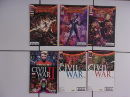 Lot 6 Comics Marvel Mensuels SECRET WARS 1 2 3 + CIVIL WARS 1 2 3  Tbe - Books, Magazines, Comics