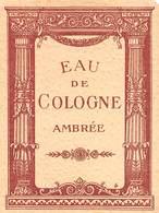 """08290 """"EAU DE COLOGNE AMBREE"""" ETICHETTA  ORIGINALE. - Etichette"""