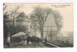 CPA (24) Brantome. Attelage De Boeufs Périgourdin.  (B.182) - Brantome