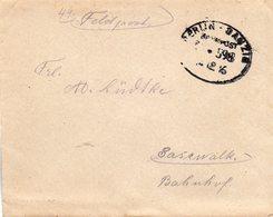 BERLIN-DANZIG BAHNPOST - Occupation 1914-18