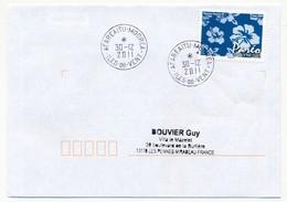 """POLYNESIE FRANCAISE - Enveloppe Affr. Pareo Oblitérée """"AFAREAITU-MOOREA Iles-du-vent"""" 30-12-2011 - Lettres & Documents"""