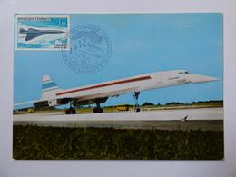 AIR FRANCE  CONCORDE   CARTE 1 JOUR SALON LE BOURGET 1969 - 1946-....: Era Moderna