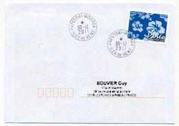 """POLYNESIE FRANCAISE - Enveloppe Affr. Pareo Oblitérée """"PAPETOAI-MOOREA Iles-du-vent"""" 30-12-2011 - Lettres & Documents"""