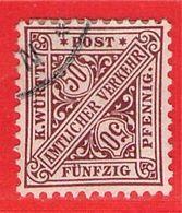 MiNr.235 O Altdeutschland  Württemberg Dienstmarken - Wuerttemberg