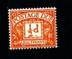 GREAT BRITAIN - 1951 POSTAGE DUES 1/2d  ORANGE KGVI  MINT NH  SG D35 - Tasse