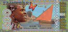 ZANZIBAR Equatorial Territories 500 Francs   2015 UNC - Specimen