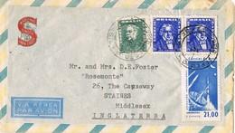 29650. Carta Aerea PORTO ALEGRE (Brasil) 1963. Comercial Maquinas Coser SINGER - Brasil