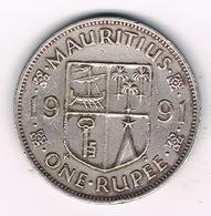 ONE RUPEE 1991 MAURITIUS /4866G/ - Mauritius