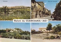 AGRIGENTO - Saluti Da Cianciana - 4 Vedute  - Calvario - Villa Comunale - 1982 - Agrigento