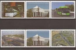 Uzbekistan 2018 - MNH - Bus / Transport / Factory / Highway / Flyover / Bridge / Via Duct - Uzbekistan